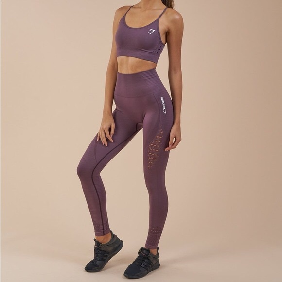 f5589cb0a1c58 Gymshark Pants | Energy Seamless Purple Wash Leggings Xs | Poshmark